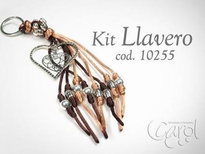 KIT 10255 Kit Llavero corazon seda