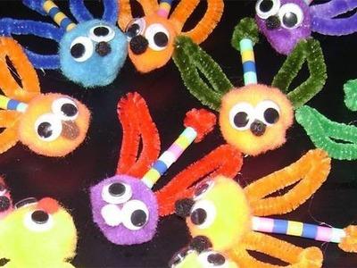 Manualidades de limpiapipas: Mosquitos de colores