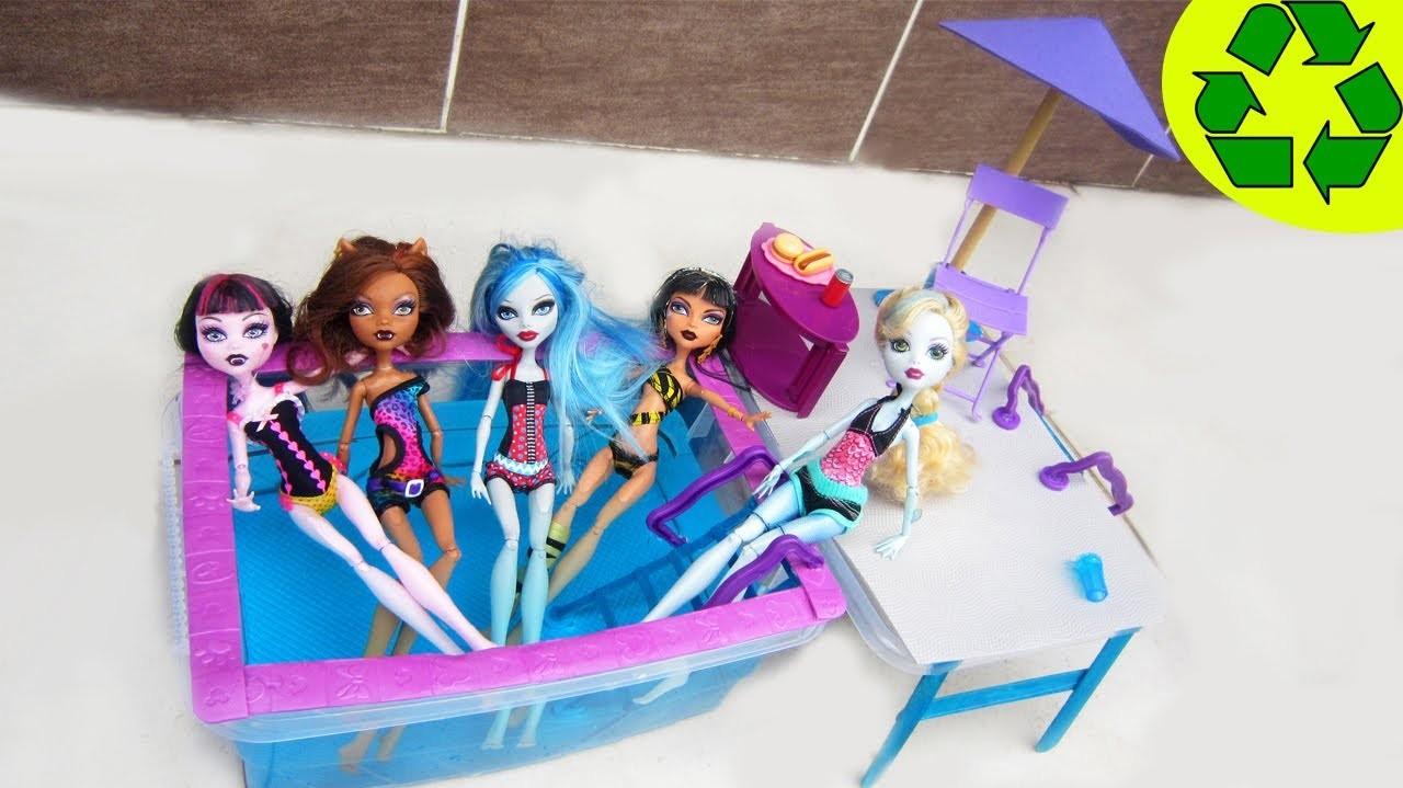 Manualidades para muñecas: Haz una piscina, alberca o pileta para tu muñeca