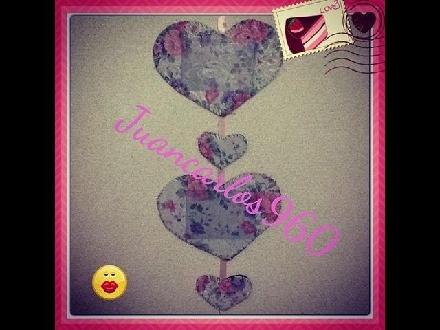 Manualidades: Portarretrato de corazones de pared - Juancarlos960