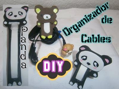 Organizador para Cables audifonos ( Panda) DIY.Headphone Organizer