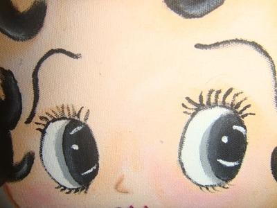 Pintura en Tela  ojos y labios  de Betty Boop marimur 420