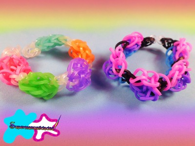 Pulsera BUBBLE GUM con ligas.gomitas (sin telar) ◉SUPERMANUALIDADES◉
