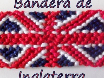 Pulsera de Hilo: Bandera de Inglaterra