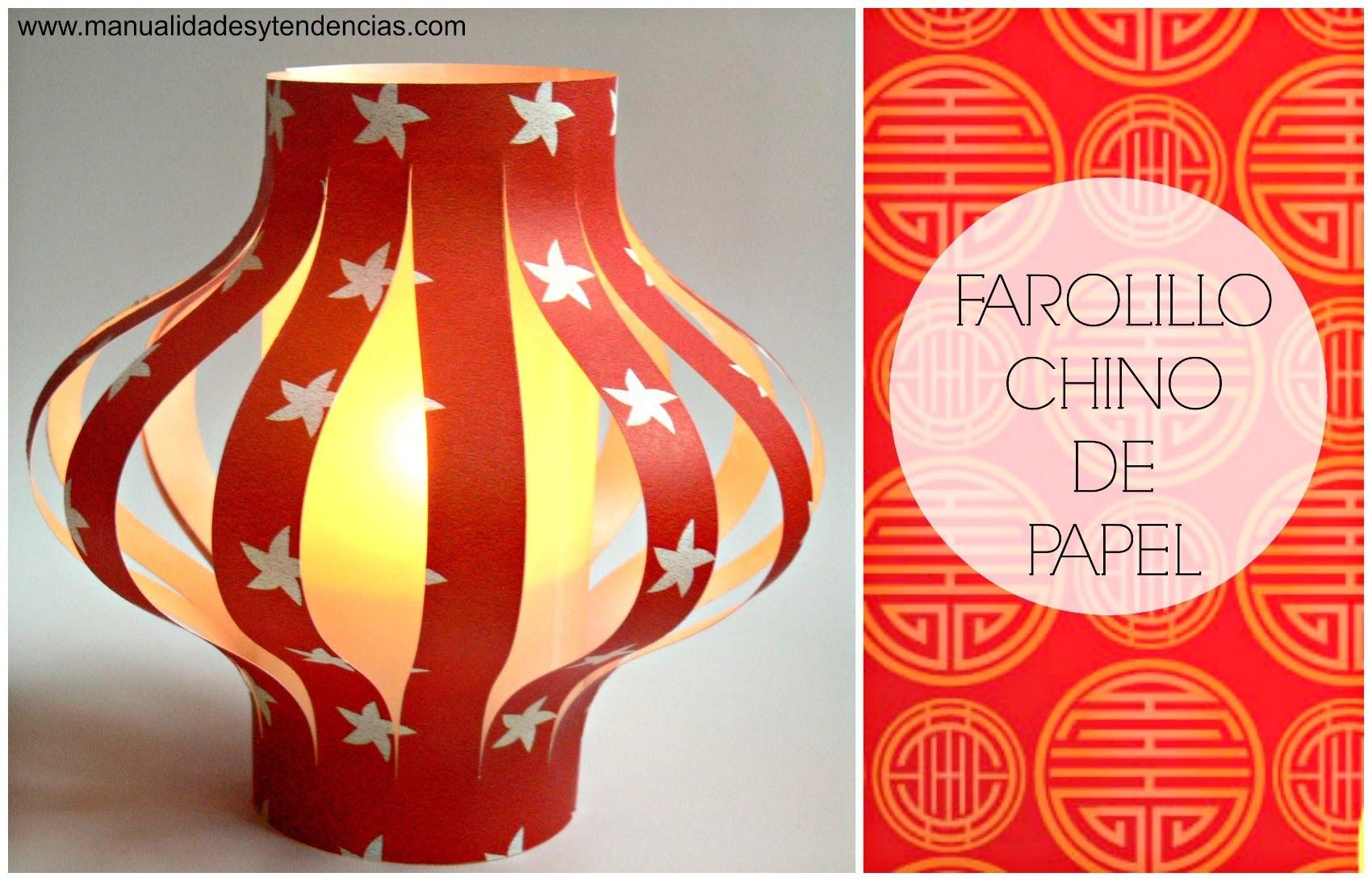 Reciclaje: Linterna china. Chinese lantern