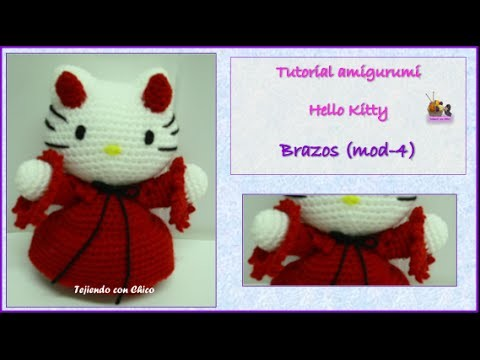 Tutorial amigurumi Hello Kitty - Brazos (mod-4)
