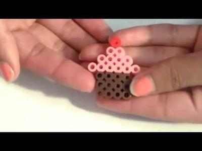 Tutorial: Cupcake de Perler.Hama Beads | VanessaMarie15