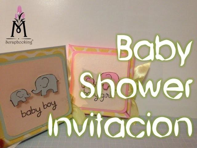 TUTORIAL Invitación Baby Shower.Baby Shower Invitation