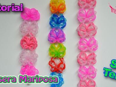 ♥ Tutorial: Pulsera Mariposa (sin telar) ♥