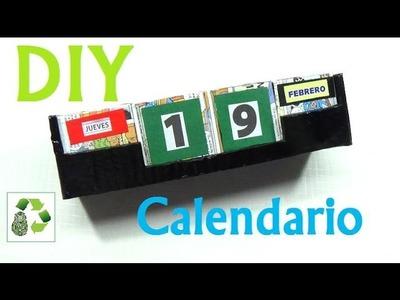 149. DIY CALENDARIO (RECICLAJE DE CARTON)