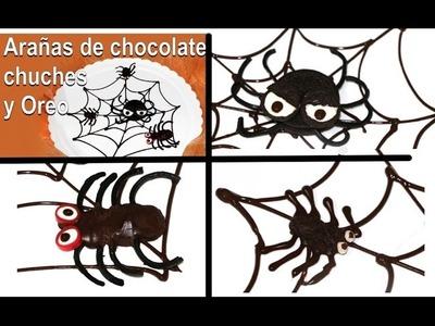 3 Arañas comestibles para Halloween. Edible spiders