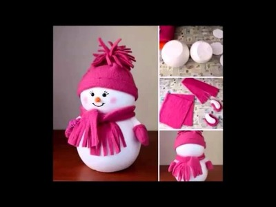 Adornos navideños reciclados.Recycled Christmas ornaments