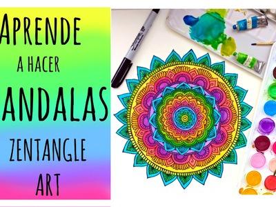 Aprende a hacer Mandalas conmigo! ❤️ Zentangle Art