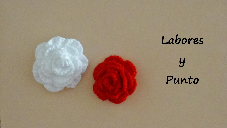 Aprende a preparar una rosa a ganchillo