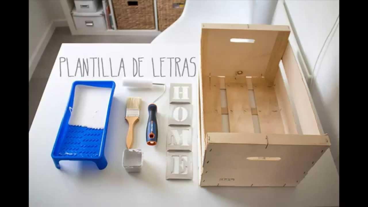BohoDecoChic - DIY Caja de madera de frutas. DIY Wood fruit box
