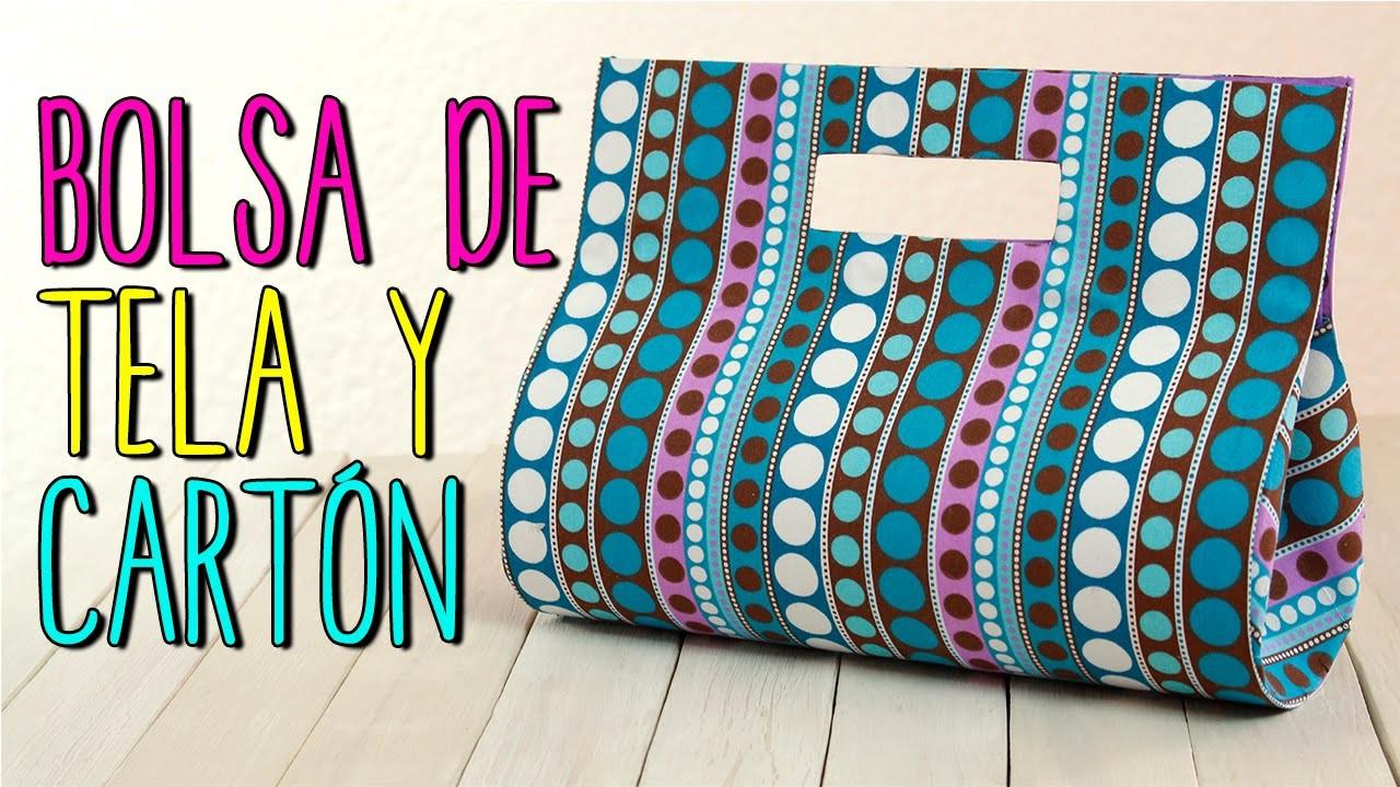 Bolsa de Tela - Paso a Paso Sin coser - Bolso de Fiesta de Cartón  - Cartonaje