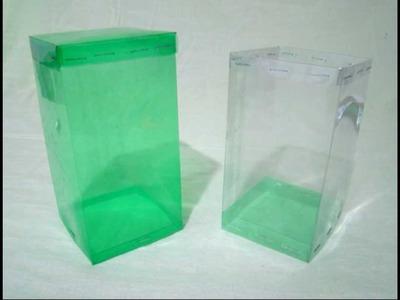 Caja cuadrada hecha con botellas de PET - vídeo completo - Trabajos manuales - Manualidades