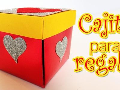 Caja para regalos con corazones - Manualidades para todos- gift box