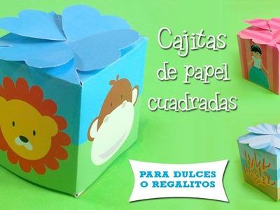 Cajitas de papel para dulces cuadradas | Decoración de Fiestas Infantiles