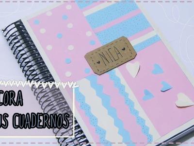 Cómo decorar tus cuadernos, libretas y agendas [Manualidad fácil para niños]