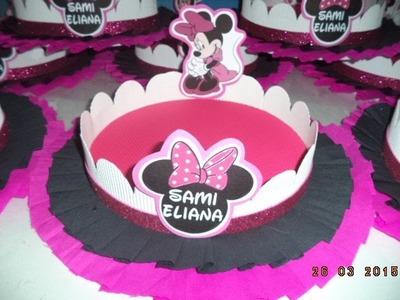 Como hacer Bandeja decorada Minnie - DIY