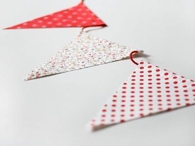 Cómo hacer banderines de tela sin costuras