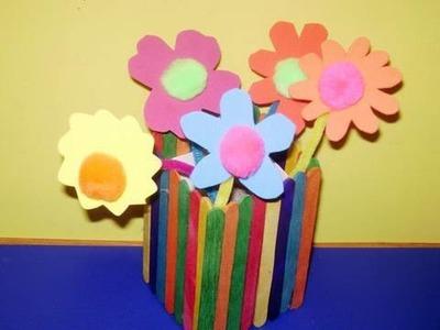 Como hacer flores de goma eva
