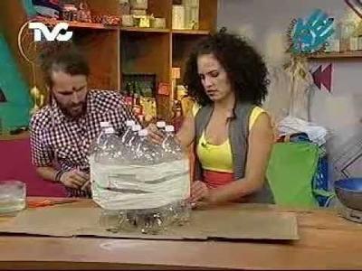 Cómo hacer Mesas con Botellas de Pet 1a. Parte (EC)