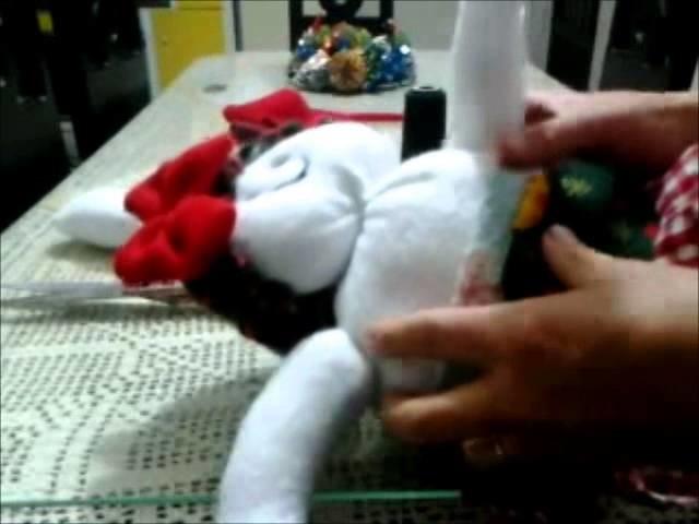 Como hacer muñeco de nieve mama, how to make snowman.