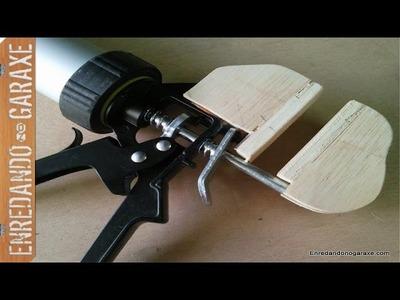 Cómo hacer sargento de apriete rápido monomanual. How to make a quick clamp