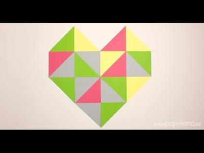 Cómo hacer un corazón con triángulos de cartulina