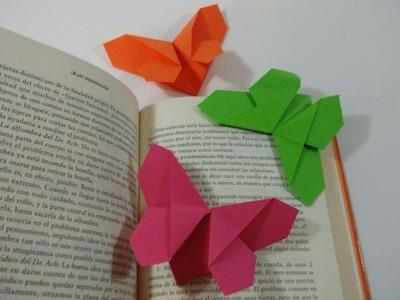 Como hacer un marcapaginas mariposa de papel