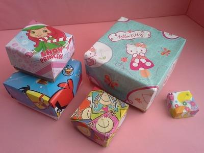 Como hacer una caja para regalo.