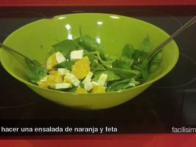 Cómo hacer una ensalada de naranja y queso feta | facilisimo.com