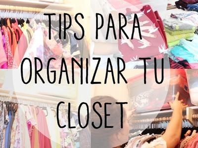 COMO ORGANIZAR UN CLOSET!! TIPS