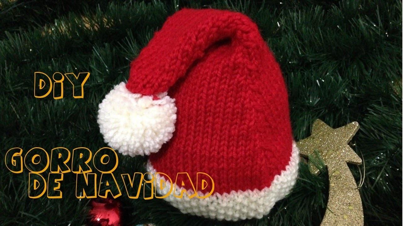 Cómo tejer gorro de navidad para niño y adulto.