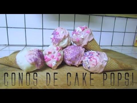 CONOS DE CAKE POPS! (día de San Valentin)