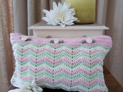 Crochet: Como hacer un estuche a crochet en punto zig zag. Video 2