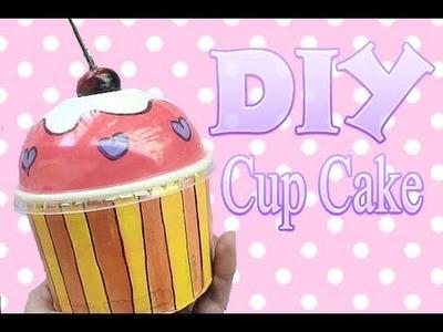 DIY Caja de Cup cake Reciclaje Alhajero de Muphin kawaii