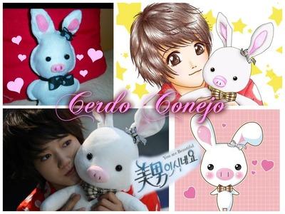 DIY Cerdo Conejo( Dorama You´re Beautiful).How To Make Pig Rabbit