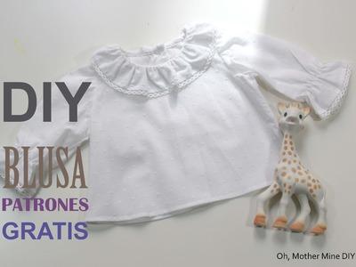 DIY Como hacer blusa para bebe patrones gratis