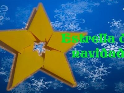 DIY | Estrella de navidad con hojas de papel