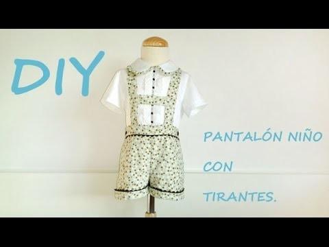 Diy Pantalon Niño Con Tirantes Como Hacer Un Pantalón De Niño