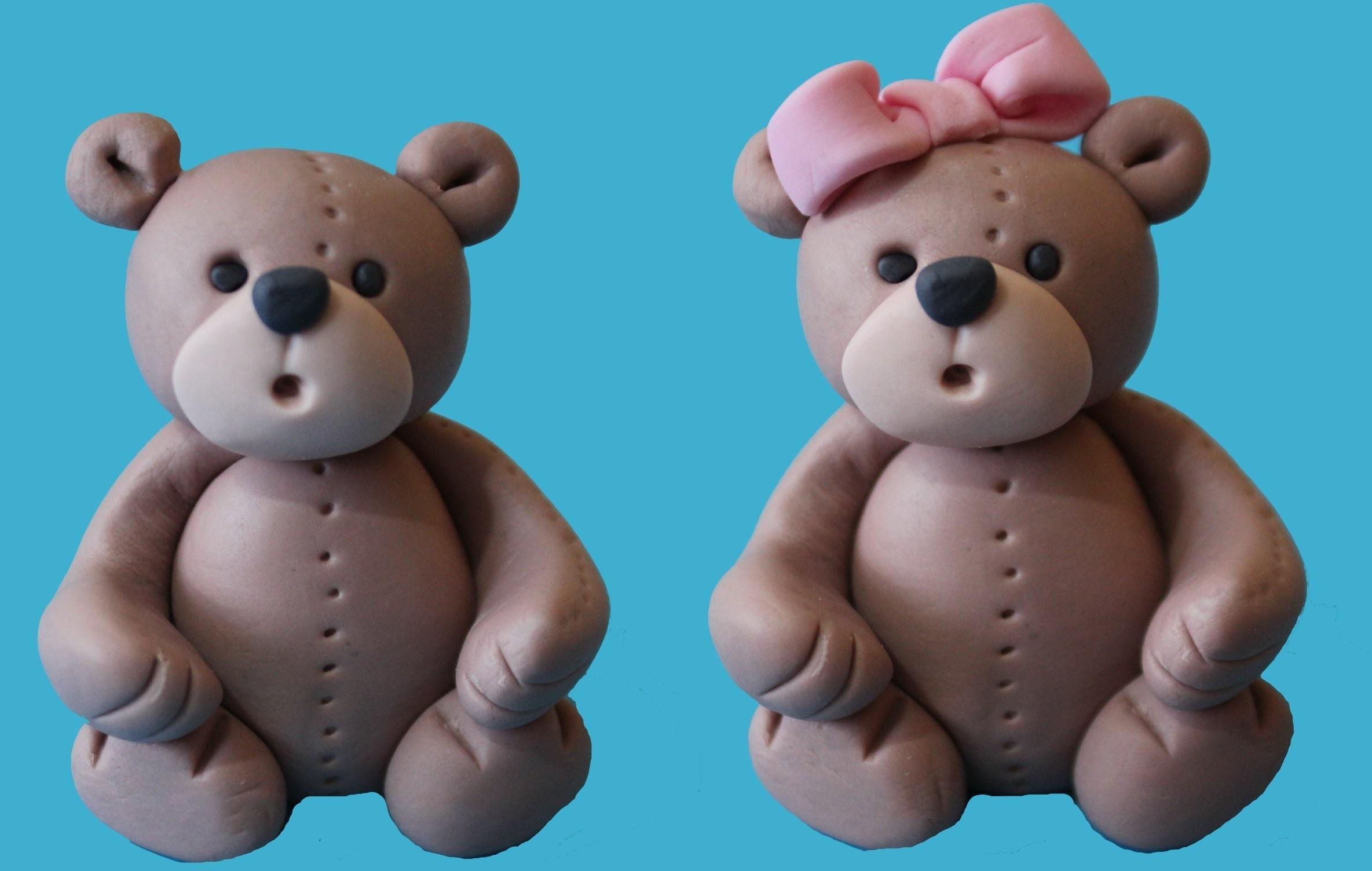 Figuras para tartas: ositos. Bear cake topper