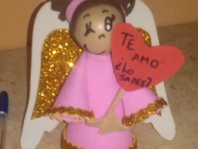 Hecho En Casa: Fofucha Angel (Goma Eva) - Silvana Cocina Y Manualidades