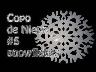 Kirigami como hacer un copo de Nieve de papel # 5--snowflakes --DIY