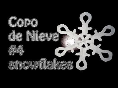 Kirigami como hacer un copo de Nieve de papel # 4--snowflakes --DIY