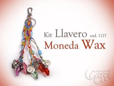 KIT 1127 Kit llavero moneda wax cord x und