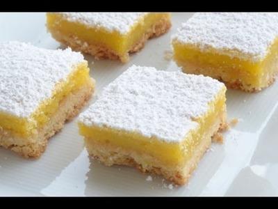 Lemon bars - cortadillos de limón