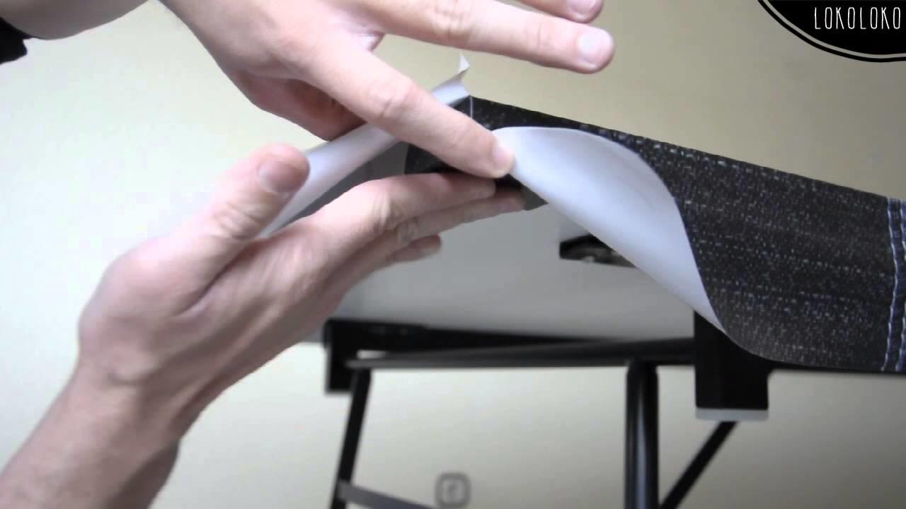 Lokoloko. Instalar vinilo para muebles. How to wrap home furniture with vinyl